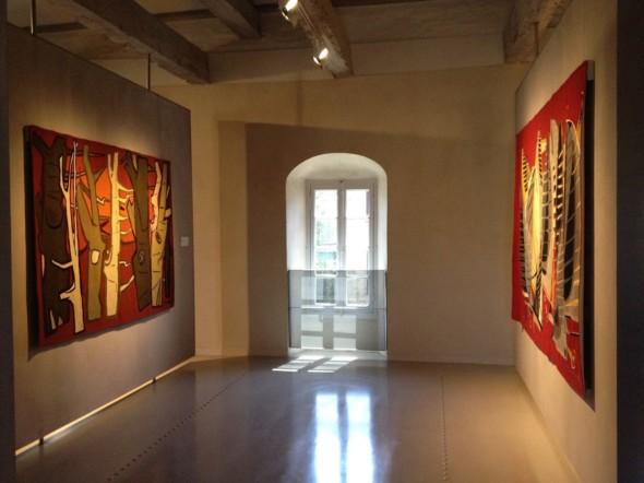 2015 Musée Dom Robert Abbaye – école de Sorèze-Tarn – Deux tapisseries de Théo Kerg 1955 – La Mêlée (à droite) et La Forêt (à gauche)
