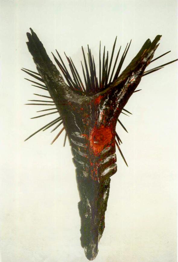 1966 Chapelle de la peste à Dormitz Tirol – Sculpture le Crucifié