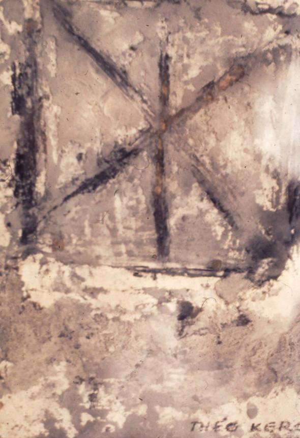 1933 Peinture abstraite sur carton, collection Musée Théo Kerg Schriesheim