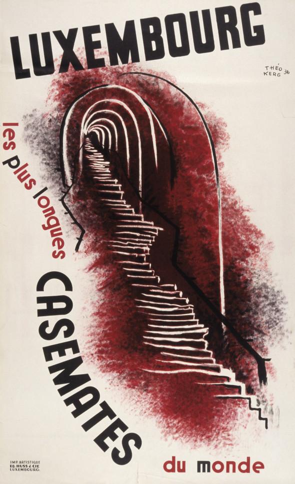 1936 Affiche, Casemates de Luxembourg