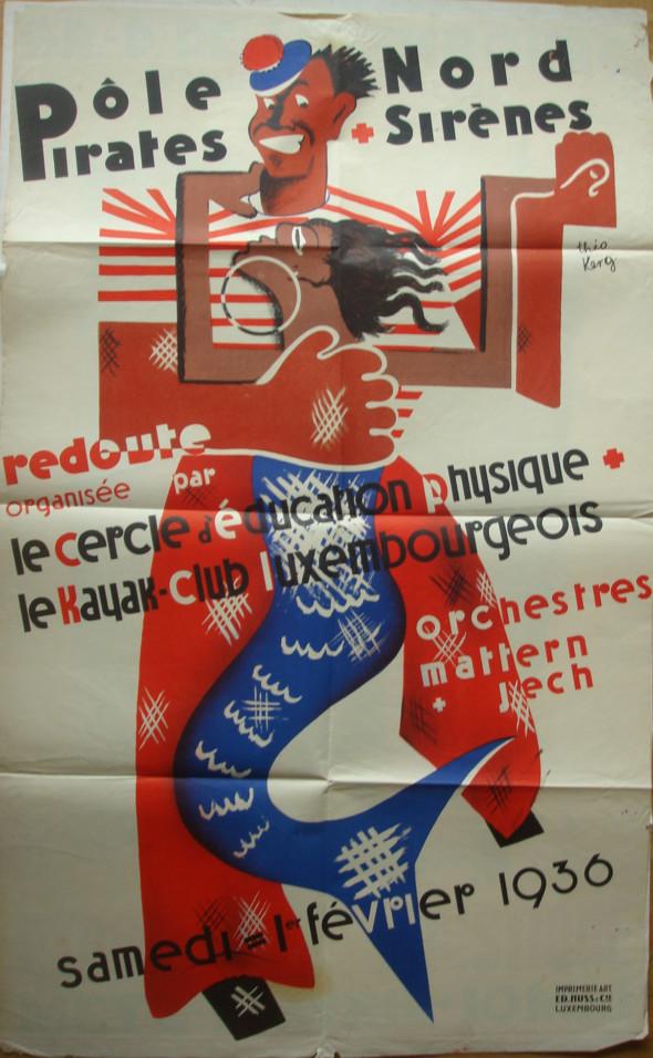 1936 Affiche, Bal de la Redoute au Pôle Nord