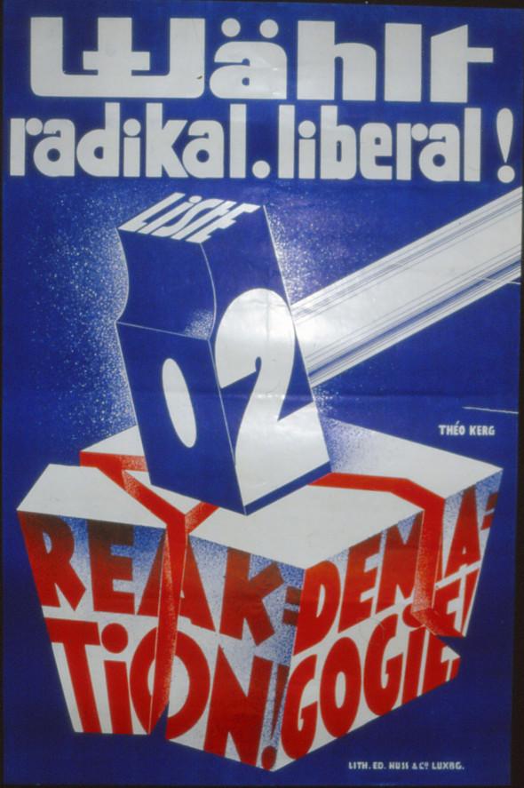 1936 Affiche, Wählt radikal liberal