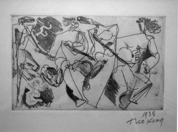 1938  Les fugitifs (espagnols), gravure, 9,5 x 15,2 cm