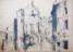 1943 Sierck-les- Bains, rue St Georges -Les-Baillargeaux, dessin a l'encre, 24.8.1943