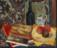 1943 Nature morte aux trois pommes, huile sur toile