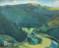 1943 Vue des Ardennes dans l'Oesling, huile sur panneau, 35 x 42 cm