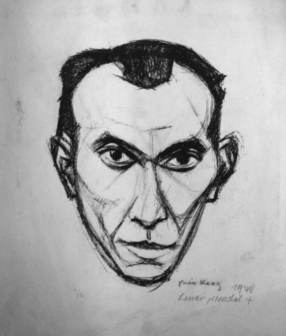 1948 Henri Perruchot, membre de l'Ecole de Rochefort, dessin