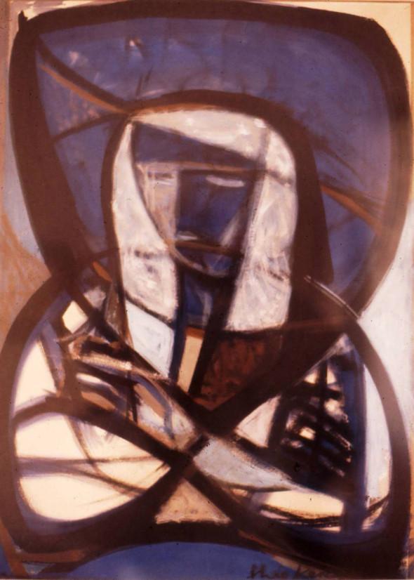 1948, La fille au chapeau bleu, gouache, Collection Musée Réattu Arles