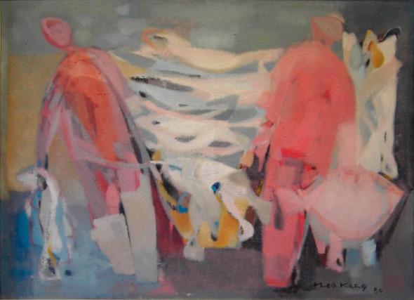 1950 Les 2 du Saint-Yves, huile sur toile 50×70 cm