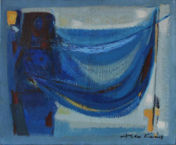1950 Matin, huile sur toile, 46 x 38 cm