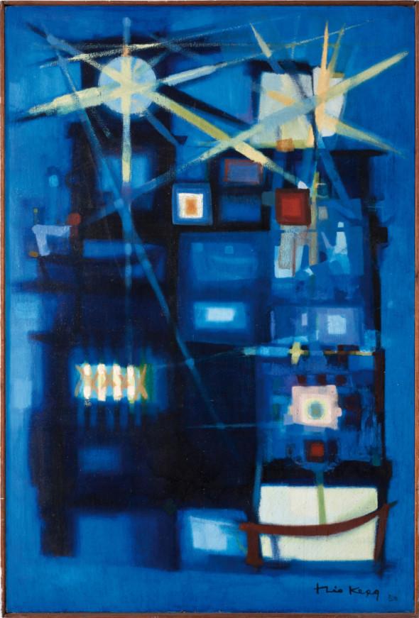 1950 Tour de feu, huile sur toile, 130 x 195 cm, collection Musée Théo Kerg Schriesheim, exposée au Musée National d'Histoire et d'Art (MNHA) en 2013-2014