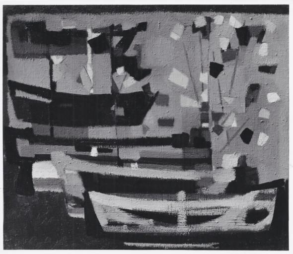 1951 A Audierne, huile sur toile