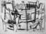 1951 A Venise, dessin sur carton