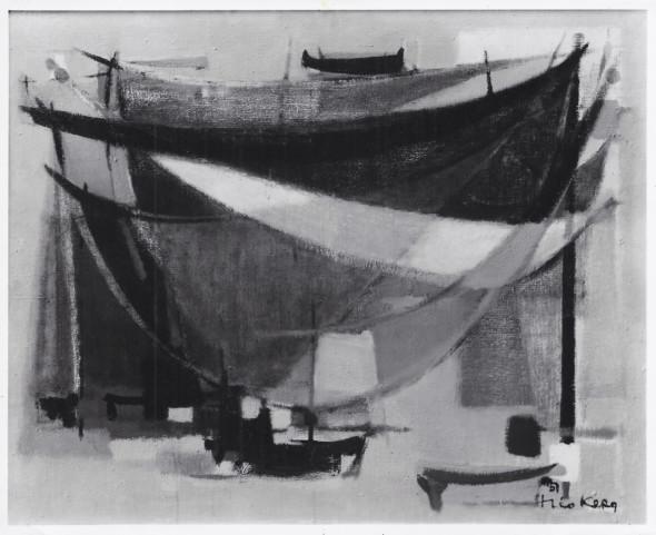 1951 Filets, huile sur toile, 130 x 97 cm, 60F, photo Jean Boyé