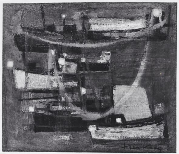 1951 Quand sèchent les filets, huile sur toile, 55×46 cm, 10F, photo Jean Boyé
