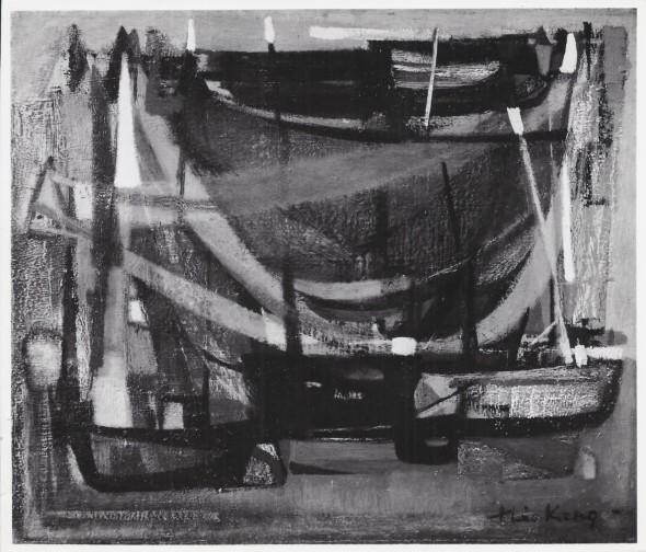 1951 Quand sèchent les filets, huile sur toile, 1950, 55x 46 cm, 10F, photo Jean Boyé