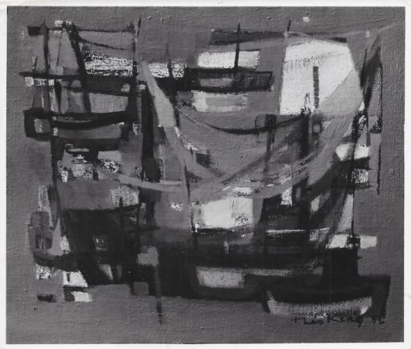 1952 A Douarnenez, huile sur toile. Collection particulière, Philadelphia