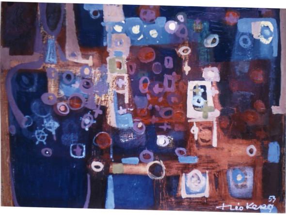 1953 Les fleurs de … huile sur toile