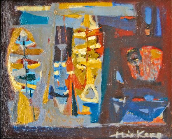1954 Nature morte aux poissons, huile sur toile, 28 x 34 cm
