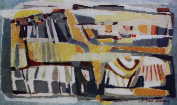 1954 Alpestre, huile sur toile, 38 x 61 cm