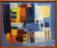 1955  Intérieur gai, huile sur toile, 56 x 51 cm, collection Museum Ludwig, Köln, exposée au Musée d'art moderne Luxembourg 2013-2014
