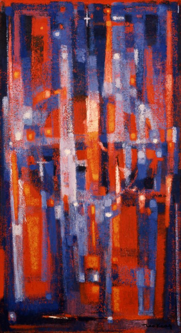 1956 Les béquilles du ciel, huile sur toile,162 x 88 cm (no 7556)