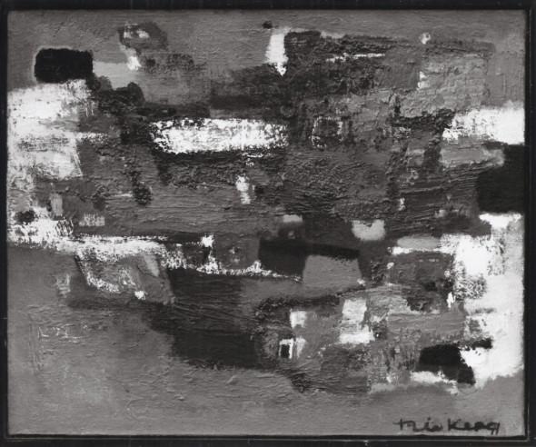 1958, Titre inconnu, (1957-1958), technique mixte sur toile, photo Théo Mey, Luxembourg