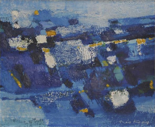 1958 Structures, (1957-1958), technique mixte sur toile, 42 x 34,5 cm.