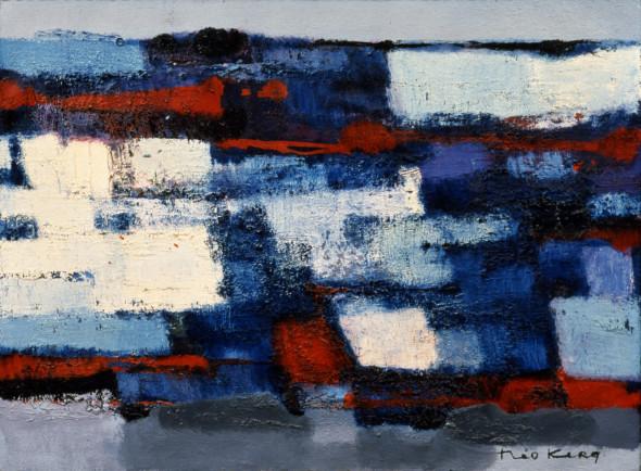 1958 Structures IV, (1957-1958), technique mixte sur toile