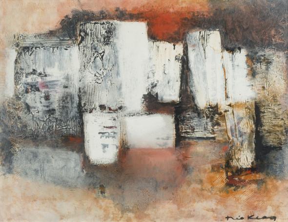 1958 Titre inconnu, technique mixte sur toile, 65 × 51 cm