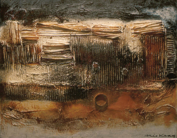1958 Titre inconnu, peinture tactiliste sur toile