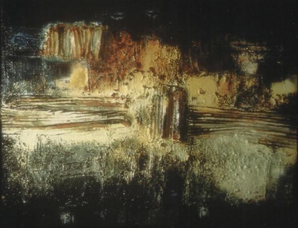 1959 Oeuvre tactiliste exposée en Noembre 1959 à la Galerie Bellechasse à Paris, photo Raymond Schaack