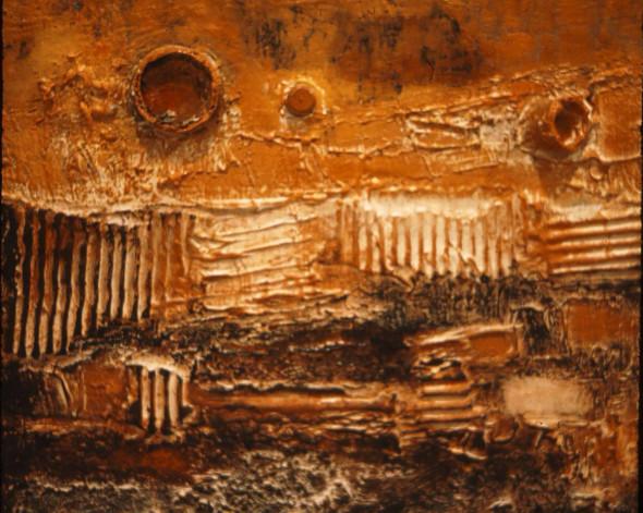 1959 Rythmes divers, Œuvre tactiliste sur toile
