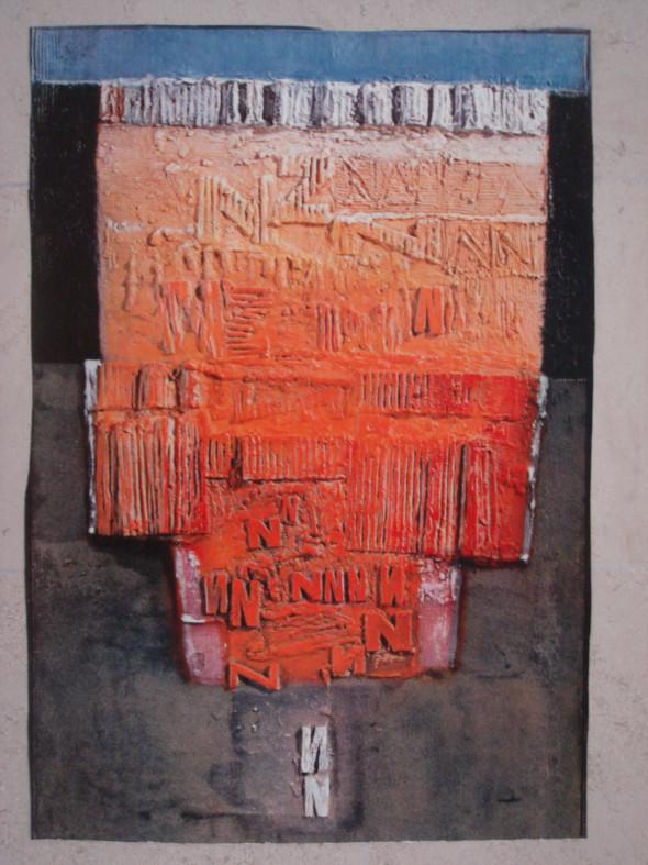 1963 Avant la naissance, 1962-1963, œuvre tactiliste sur panneau, 94 x 60 cm, également imprimé comme – Lichtdruck – chez Hanfstaengel, München