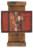 1963 Les exercices de Zoé Pop, œuvre tactiliste sur toile, 31 x 27,5 cm, et panneau en bois, 64 x 27,5 cm, exposé au Cercle-Cité en 2013-2014
