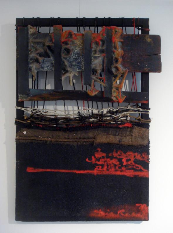 1975 A chaque chose sa place, oeuvre tactiliste, 85 x 71 cm