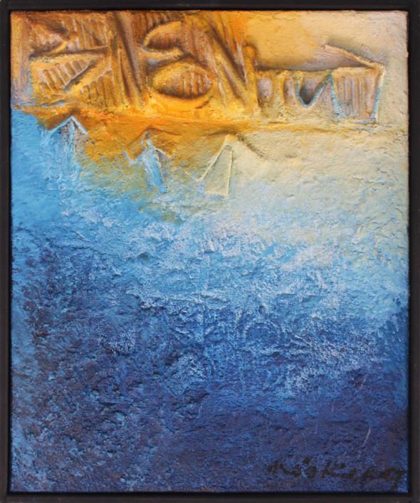 1976 Rencontre, oeuvre tactiliste 1975-1976, 10F= 46 x 55 cm