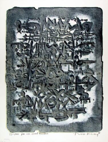 1961 Pas un mot tendre, lithographie