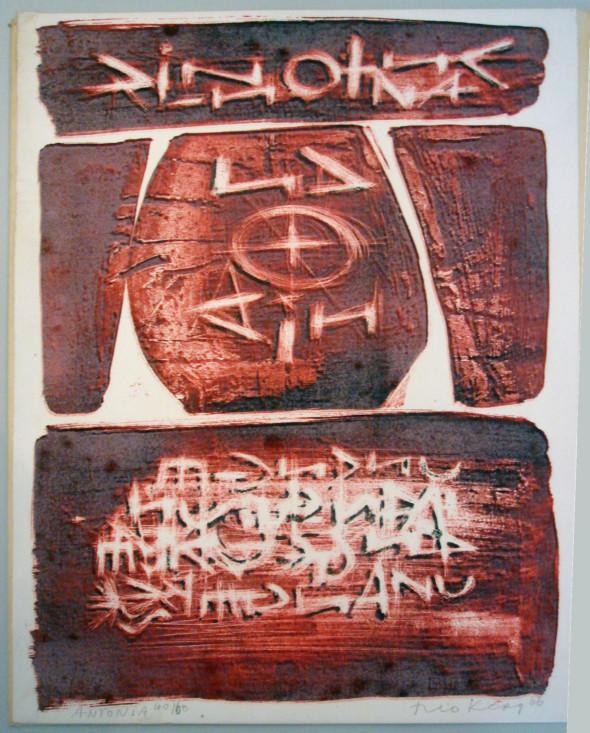 1966 Antonia, lithographie