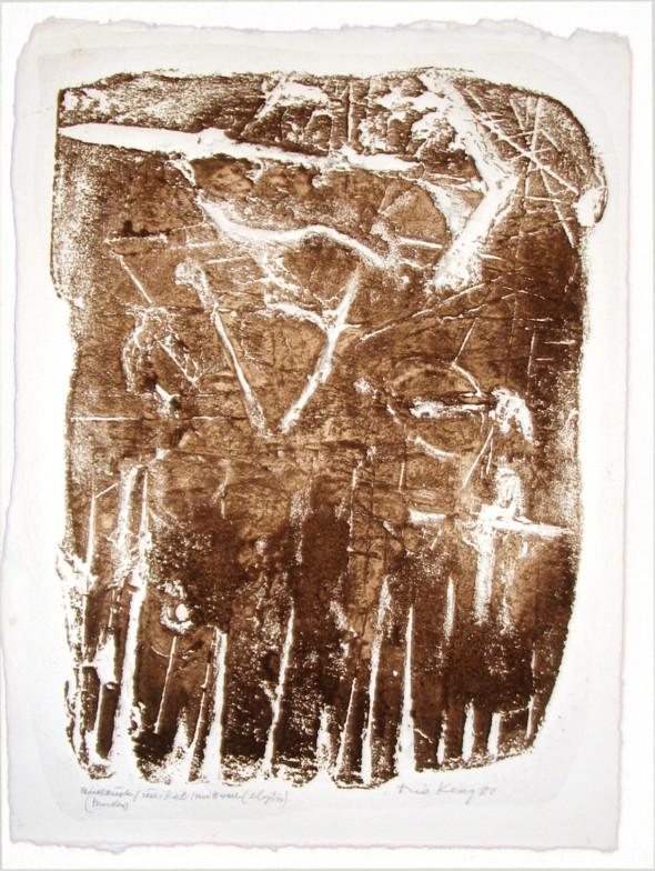 1981 Tagebuch eines nie gesehenen April, Mittwoch, Gedicht von Odysseas Elytis, empreinte