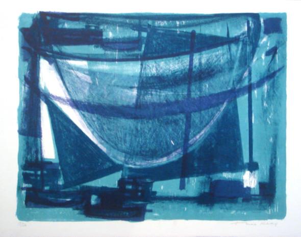 1951 Filets suspendus, lithographie