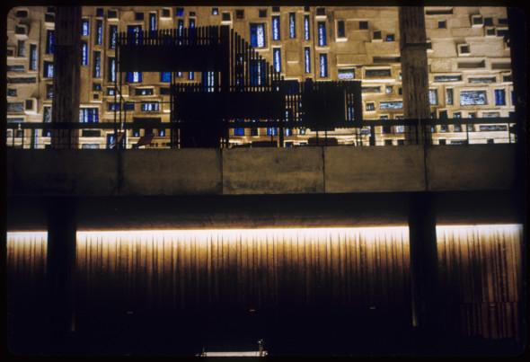 1965 Mortuaire de Mannheim, 1964-1965, vue intérieure sur l'orgue