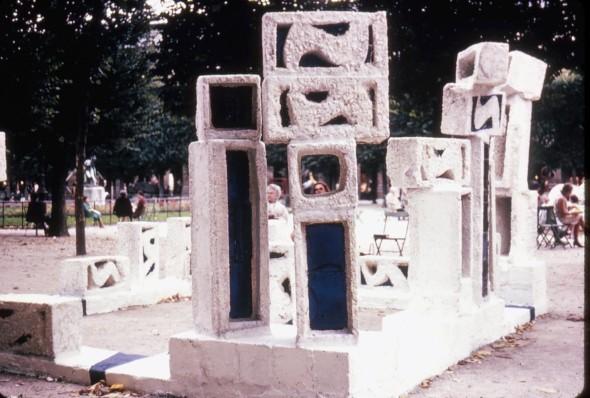 1968 Hommage à Martin Luther King aux Jardins du Palais Royal à Paris
