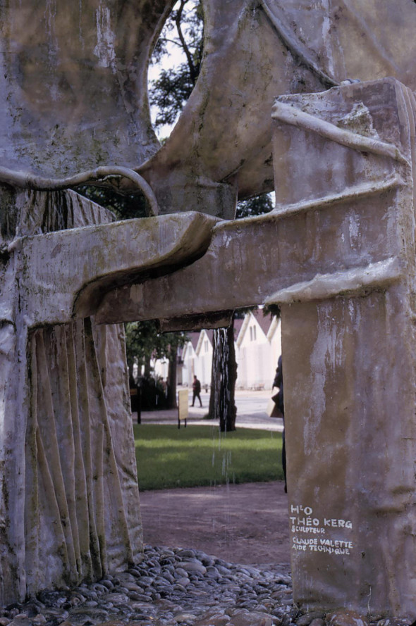 1969 Détail de la sculpture H2O aux Floralies aux Bois de Vincennes à Paris