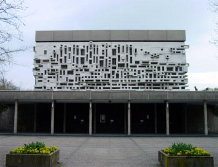 1965 Mortuaire, 1964-1965, Cimetière principal Mannheim, facade