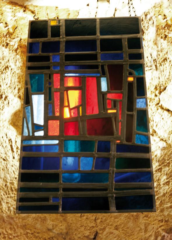 1957 Modèle d'un vitrail pour l'Eglise St. Andrè à Neckarhausen, photo Dorothea Burkhardt 2013