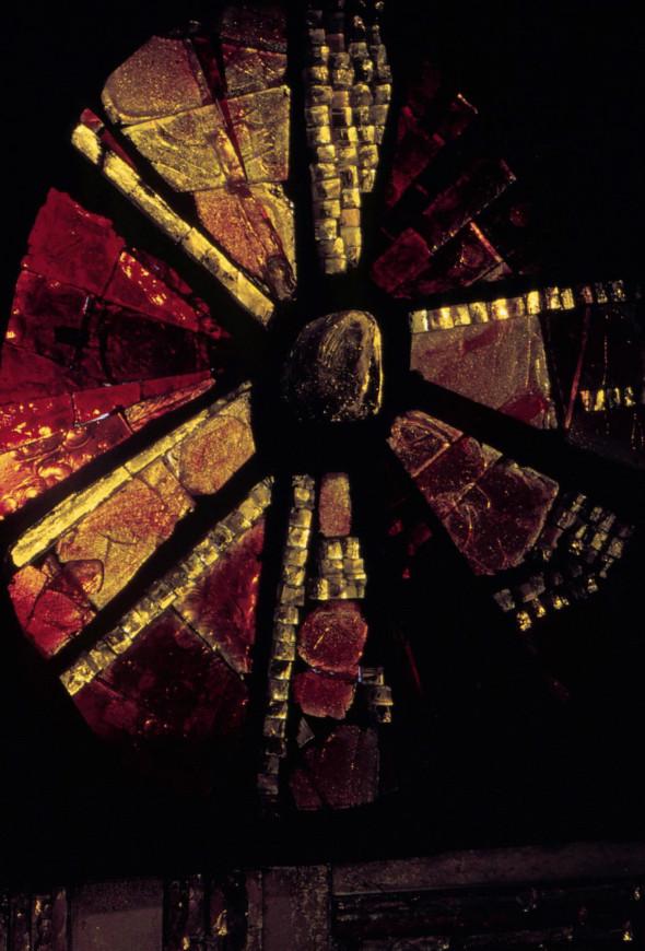 1971 Habiter le vitrail, Halles Baltard Paris, Pavillon 10, Détail d'une fenêtre