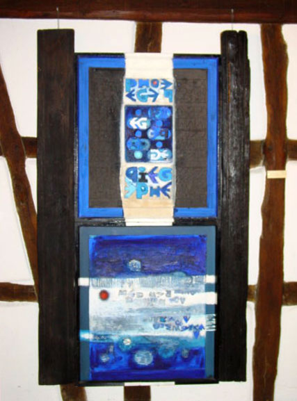 1989 Musée Théo Kerg, Schriesheim-Heidelberg, Pièges, 1957-1967, 189 x 113 cm