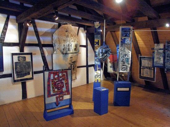 1989 Musée Théo Kerg, Schriesheim-Heidelberg, vue du 2e étage
