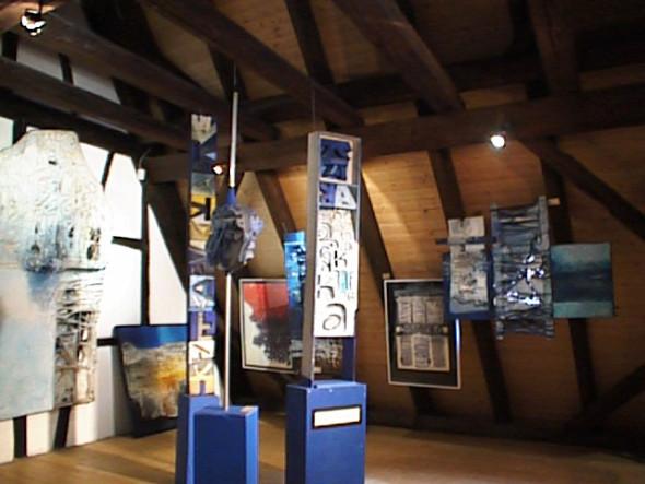 1989 Musée Théo Kerg, Schriesheim-Heidelberg, Kaffka , environnement de 5 éléments et Kafka le procès 1976, 200 x 113 cm